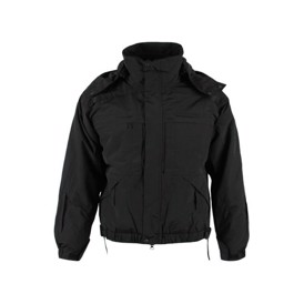 5.11 Tactical 5 in 1  jacket i sort nylon