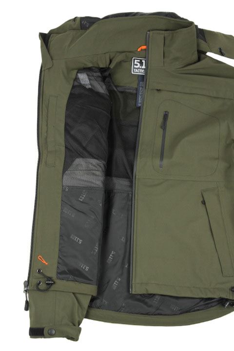 Tactical 5.11 Sabre jakke i moss softshell