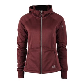 Tactical 5.11 horizon dame hoodie i bordeaux