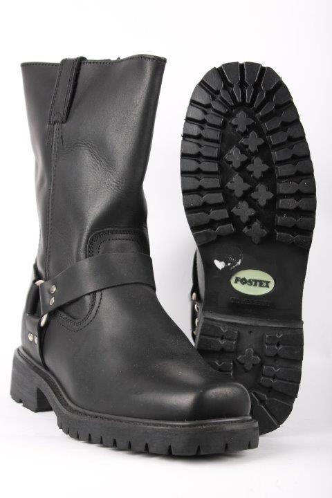 c99003779ae Biker boots i sort kernelæder med gummisål - 417.dk.