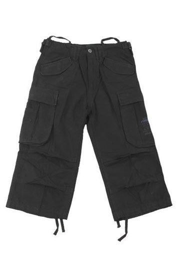 Industry 3/4 sort vintage shorts fra Brandit