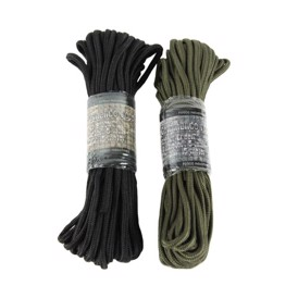 Paracord i nylon 5 mm x 15 m sort eller grøn