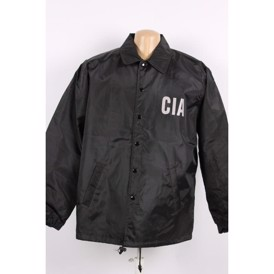 CIA official jakke sort nylon