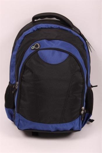 Rygsæk til 15 tommer laptop - god kvalitet - blå sort.