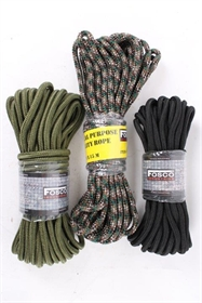 Paracord, nylon, 9 mm x 15 m, multicolour