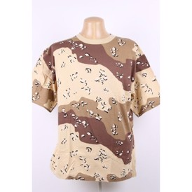 T-shirt i 6-color desert camouflage