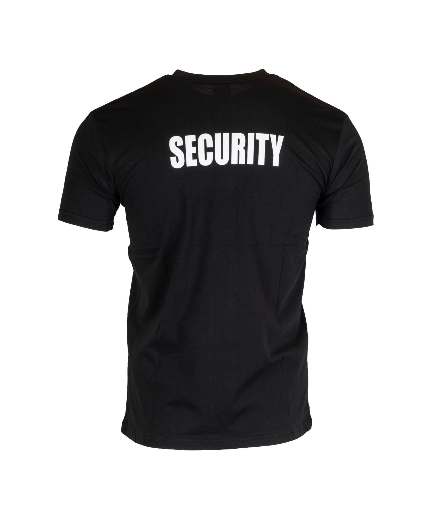 SECURITY t-shirt i sort