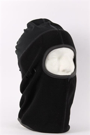 balaclava i sort fleece med 1 hul