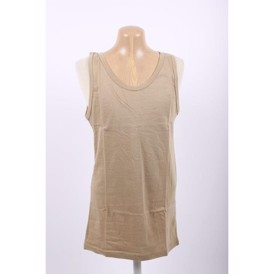 Tank top 100% bomuld, beige