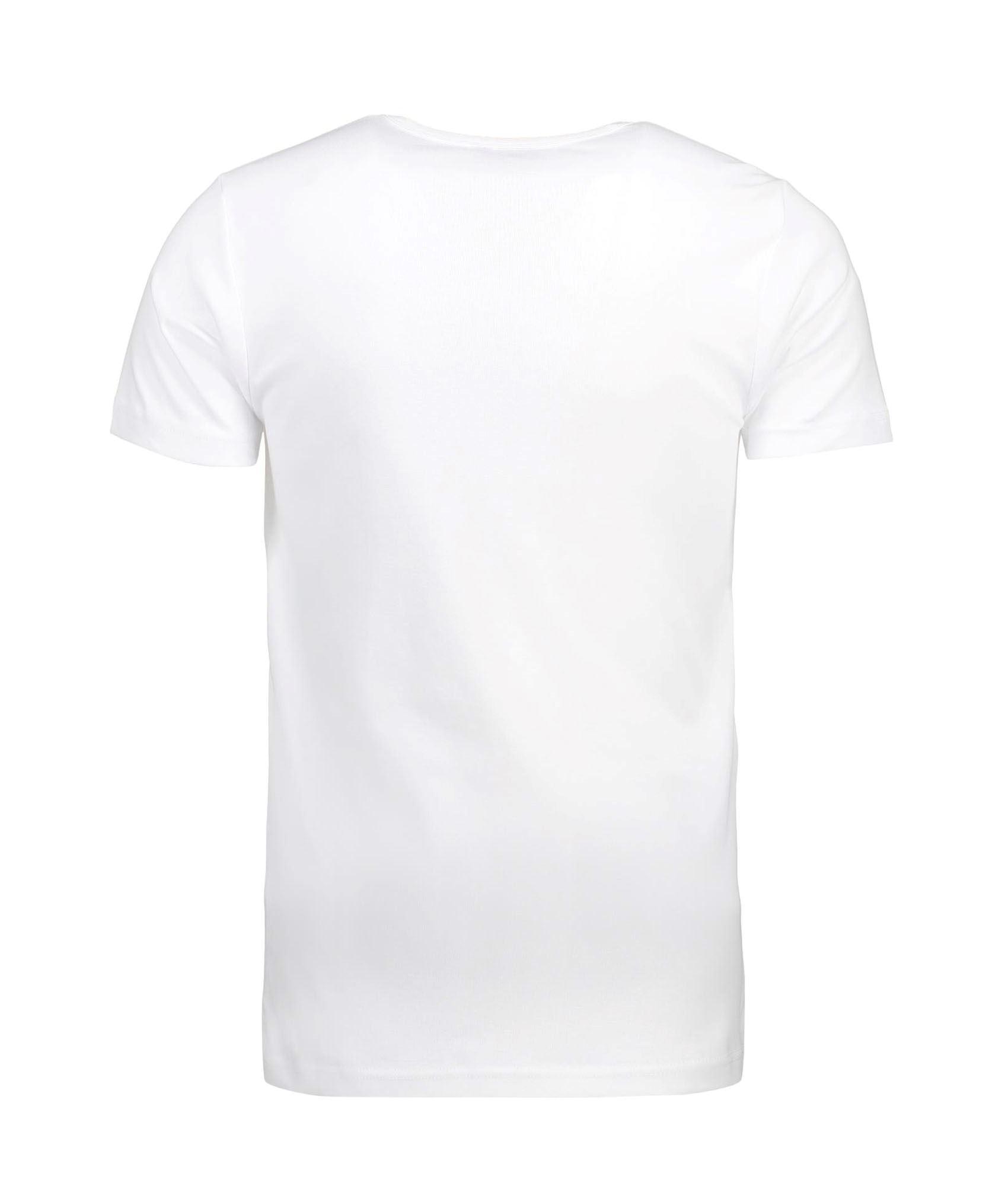 ID Rib herre t shirt, hvid