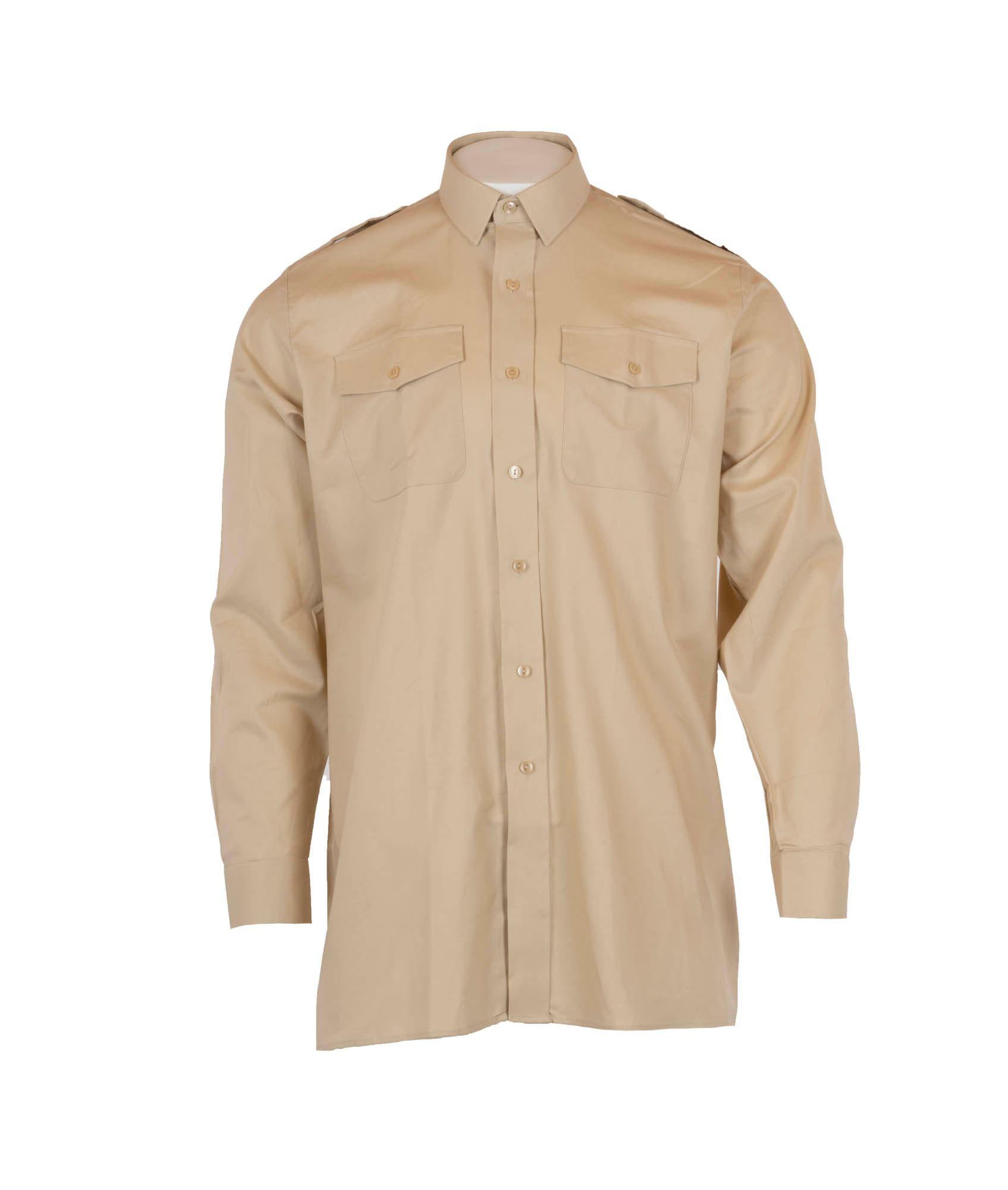 f6da7f56 Køb khakifarvet skjorte med lange ærmer hos 417.dk