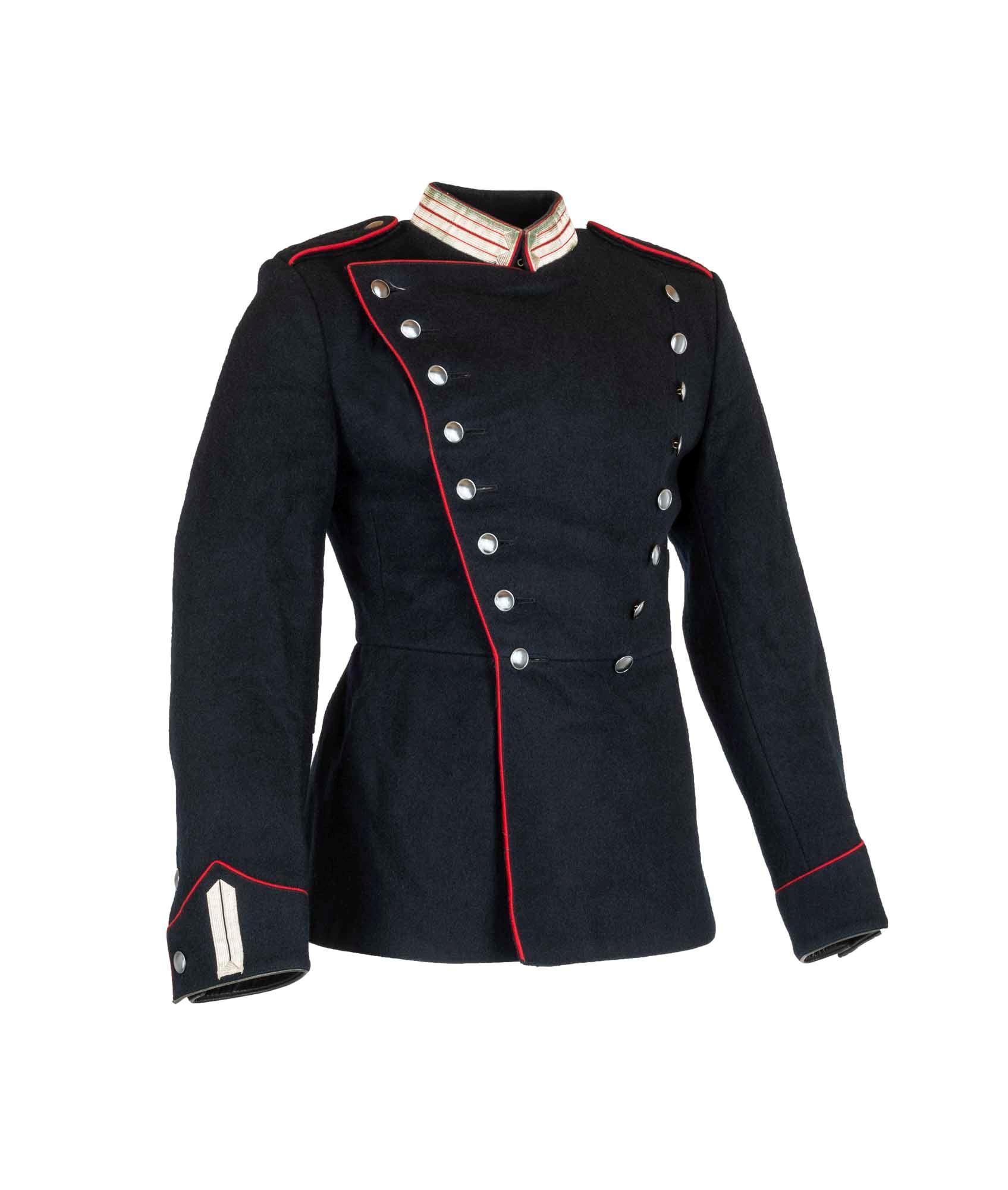 302e3858 Køb Livgardens garderjakke. Sort med røde kanter | 417