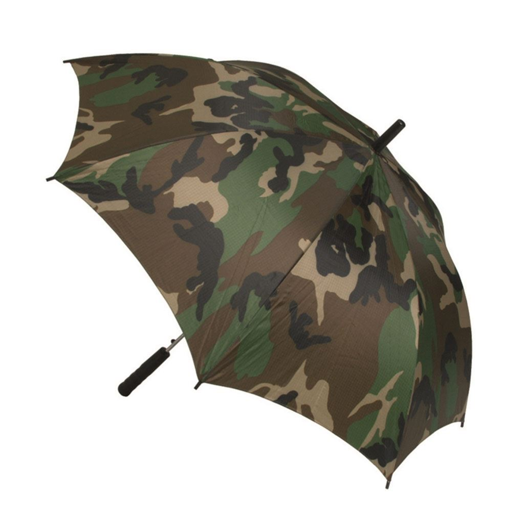 Paraply i Woodland camouflage fra Mil-Tec