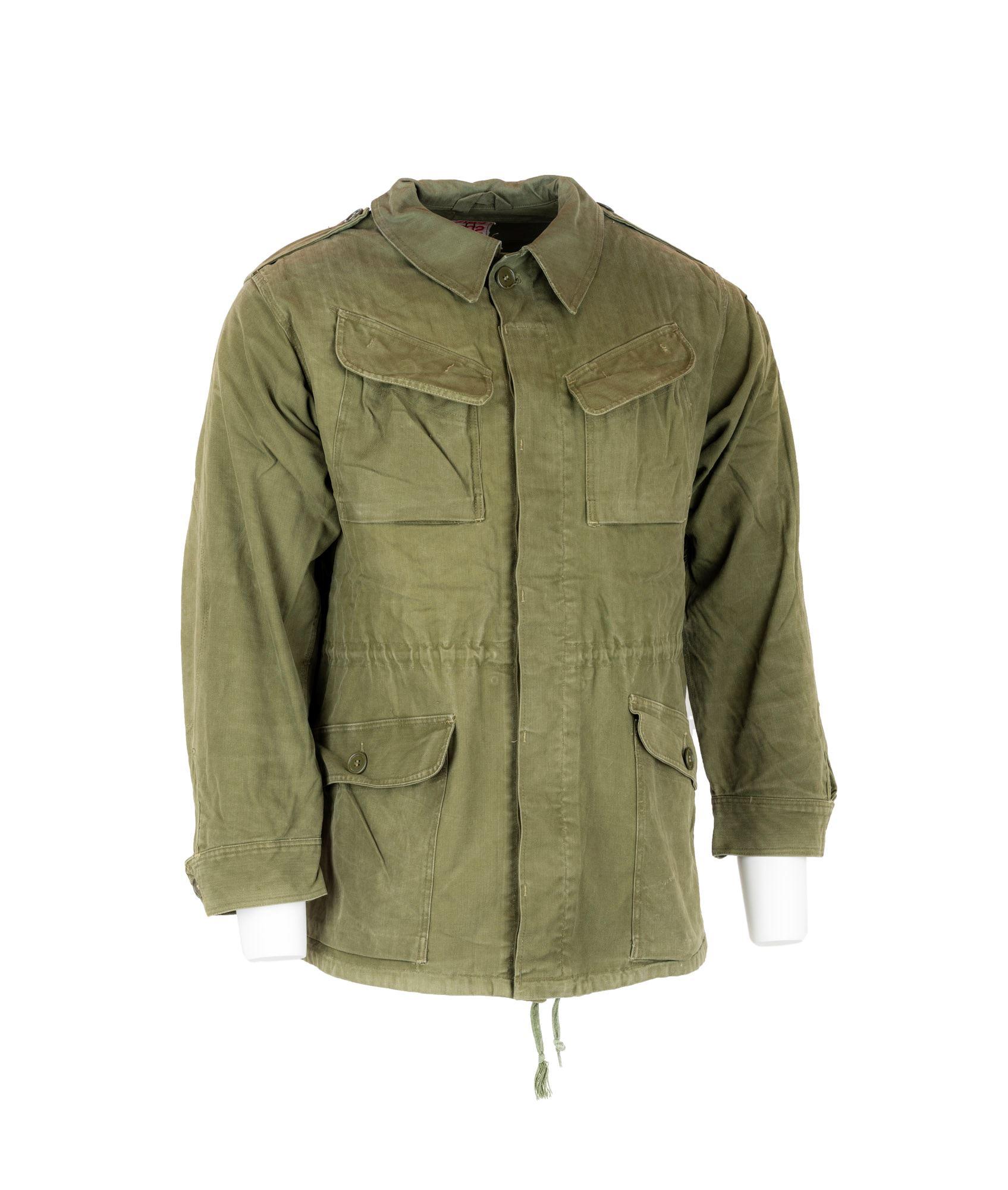 Militær jakke M58, grøn, brugt