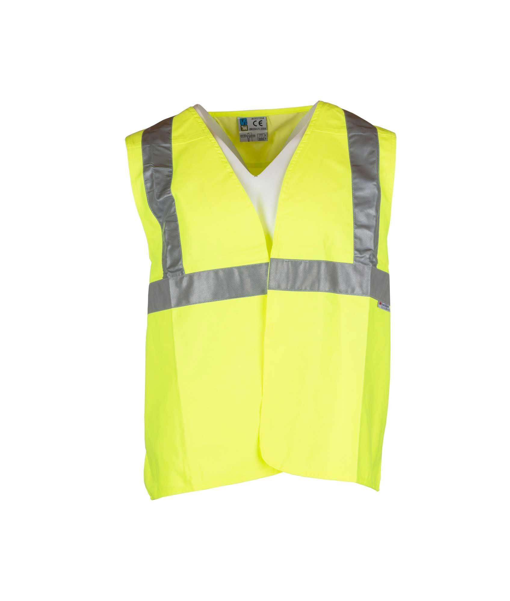 fe3a6938 Køb gul P&P sikkerhedsvest med reflekser hos 417.dk