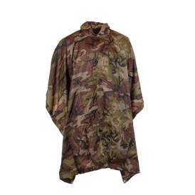 Ribstop poncho i woodland camouflage
