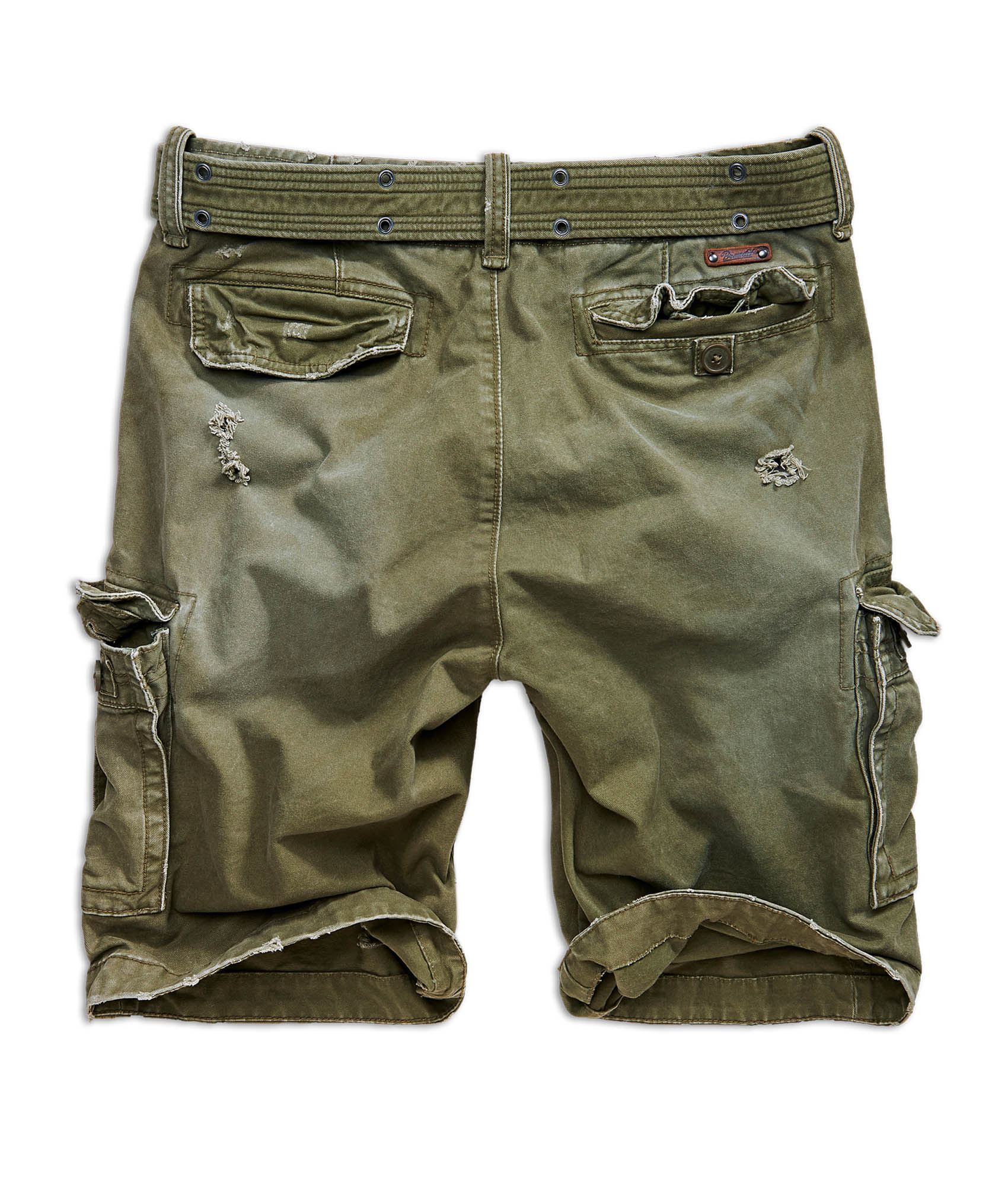 Brandit Cargo shorts Shell Valley Heavy Vintage i oliven