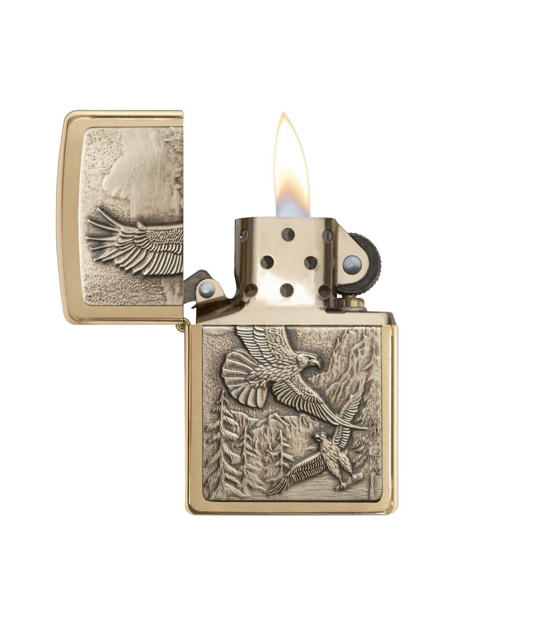 Soaring Eagle på fronten af Zippo lighter - where eagles dare
