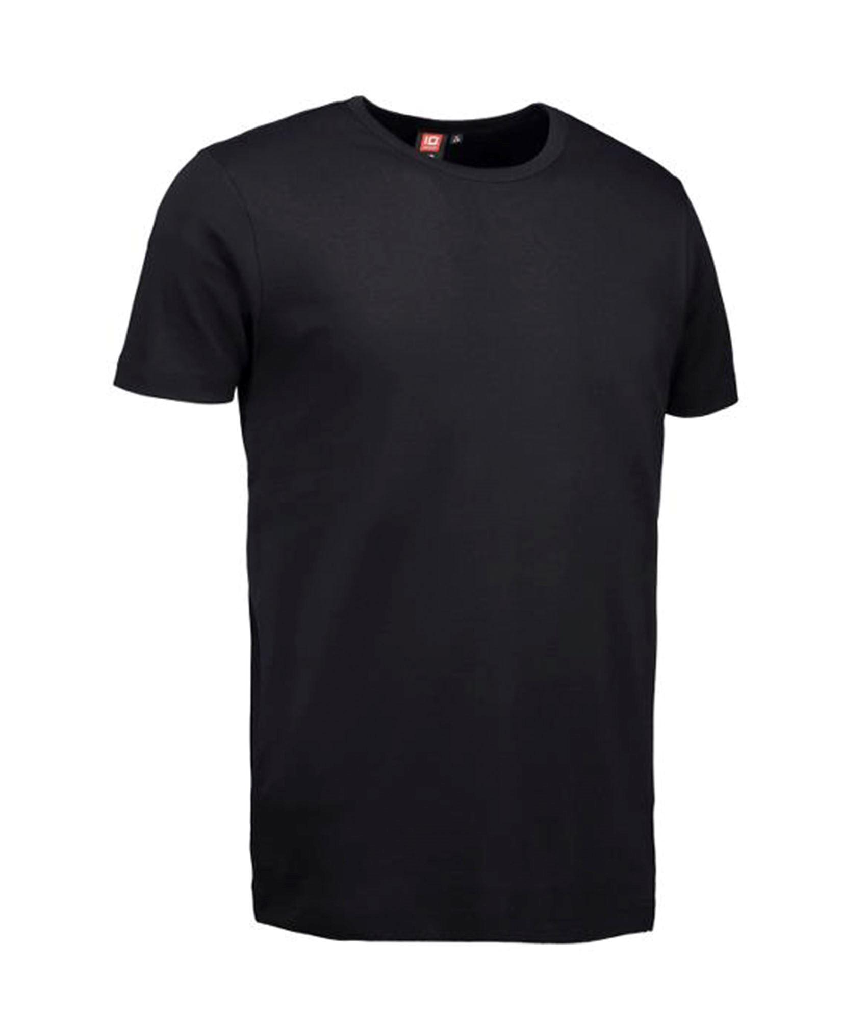 ID Rib herre t shirt, sort