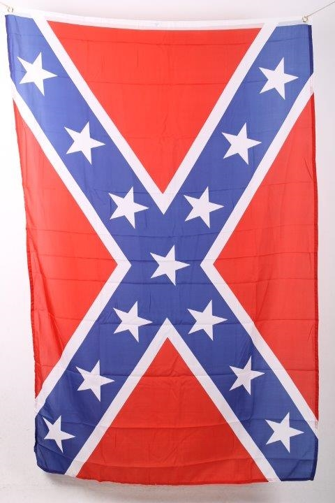 Sydstats flag - rødt flag med kryds og hvide stjerner.